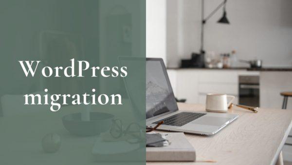 WordPress migration header